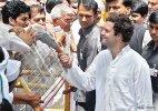 Rahul Gandhi on padyatra, meets and comforts distressed farmers