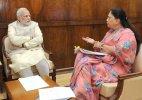 Vasundhara Raje in Delhi today, meeting with PM Modi uncertain