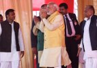 PM Modi steals the show at 'tilak' ceremony of Mulayam's grandnephew
