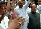 Congress MPs continue  protest for second day, govt says won't accept unreasonable demands