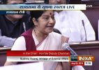 Never made any request to British govt for Lalit Modi's travel documents- Sushma Swaraj