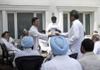 Back in action: Rahul Gandhi meets farmers in his first public interaction since return