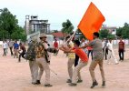 BJP seeks apology from UP CM over saffron flags in mock drill