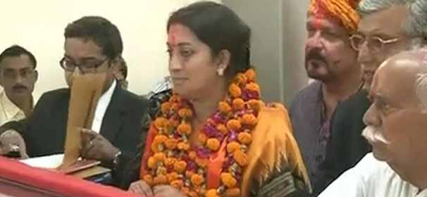 Amethi will script history, says Smriti Irani after filing nomination