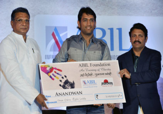 Dhoni Hands Over Rs 3 Cr To Baba Amte's NGO