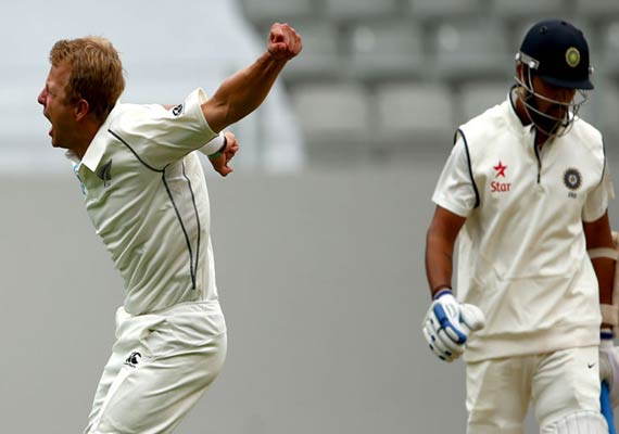 India-New Zealand first test: India finishes day 2 on 130-4
