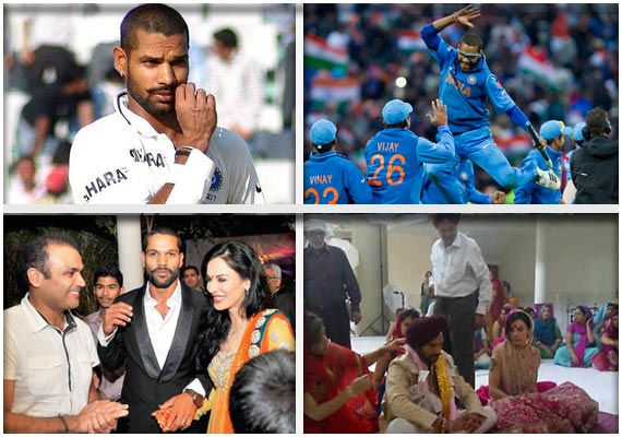 India's 'golden' batsman Shikhar Dhawan, the man of the moment