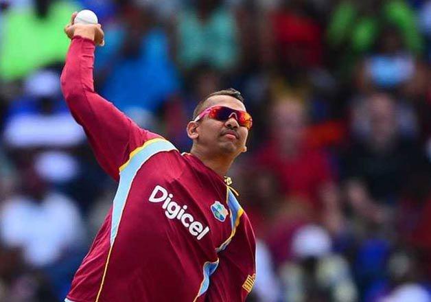 Windies spinner Sunil Narine...