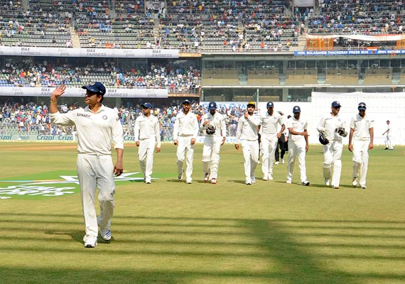 Sachin walks out of the park as the team follows. Courtesy: indiatvnews