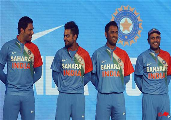 Team India New Jersey For T Unveiled