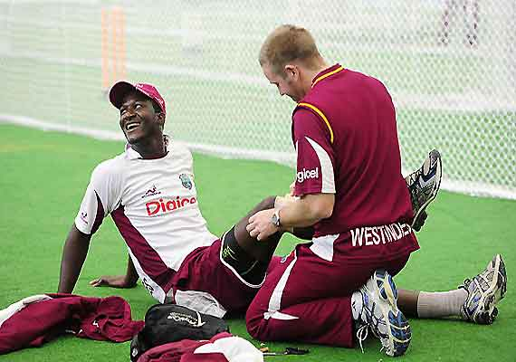 Work on at frantic pace at Windies' warm-up venue