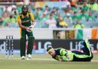 World Cup 2015: Hashim Amla helps South Africa to big total in 201-run win v Irish