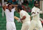 Rain stops play in Fatullah; India 107/0 at lunch against Bangladesh