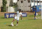 MS Dhoni has a blast playing football
