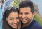 Raina's 'love wave' in Paris with wife Priyanka