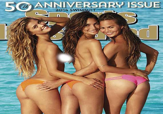 Cheeky Girls go topless for Sports Illustrated swimsuit cover