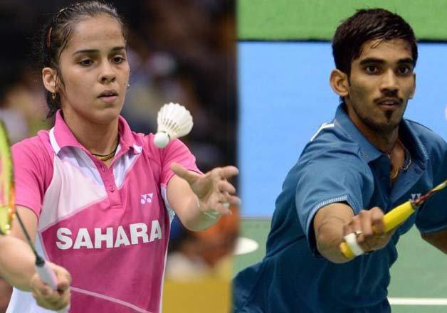 Saina, Srikanth enter maiden India...