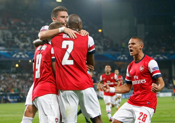 Arsenal beats Montpellier 2-1 in Champions League