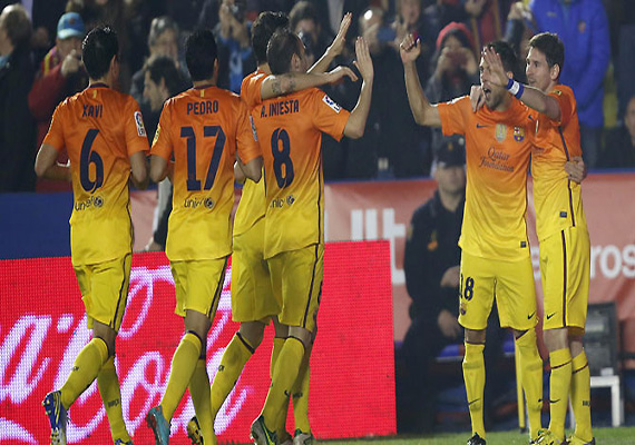 Barcelona beats Levante in Spanish league