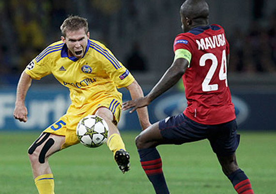 Bate Borisov beats Lille 3-1 in Champions League