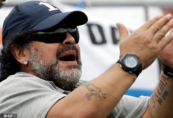 Diego Maradona's partner says she's pregnant