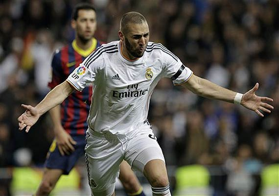 Karim Benzema , the Real Madrid striker on a different Pitch.