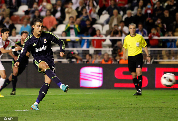 Real Madrid wins 2-0 at Rayo Vallecano in Spain
