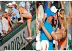 How Sharapova climbed the stand to meet her dear ones after French open triumph