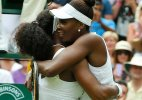 A win, then a hug: Serena Williams tops Venus at Wimbledon