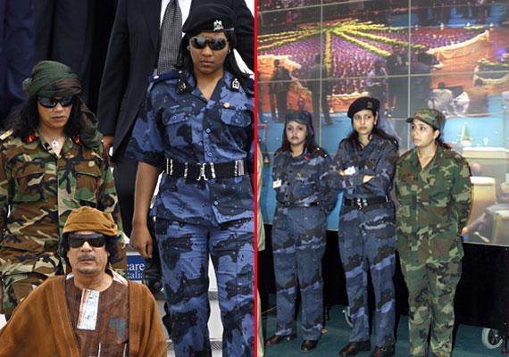 rare pics of colonel gaddafi and his virgin female bodyguards